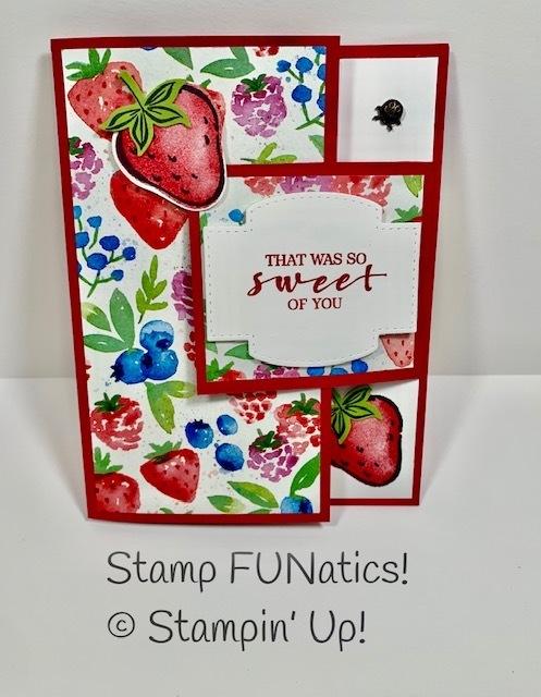 Strawberry bug card