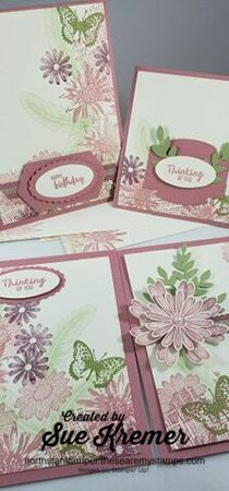 Stampin up patterned paper jan 11 4 cards north star stamper