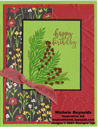 Corner bouquet flower field birthday watermark