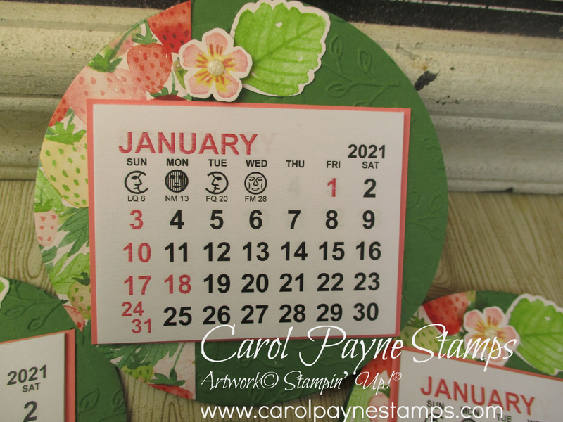 Stampin up berry delightful calendar carolpaynestamps2