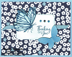 A touch of ink paper bloom butterflies watermark