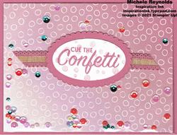 Pattern play rococo confetti shaker watermark