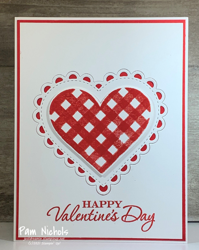 Red plaid valentine