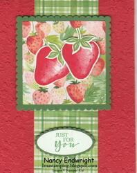 Sweet strawberry ornate floral