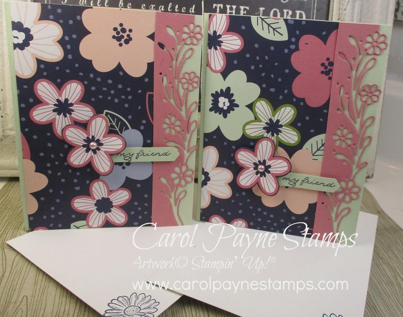 Stampin up ornate thanks paper blooms carolpaynestamps1