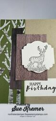Stampin up sweet strawberry rustic retreat north star stamper