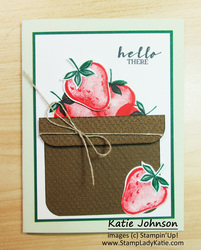 Sweet strawberry basket by stampladykatie