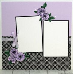 Purple posy layout