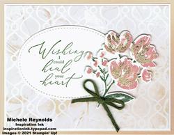 Art gallery heartfelt gilded bouquet watermark