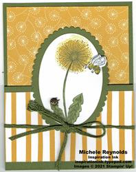 Garden wishes dandelion fun fold watermark