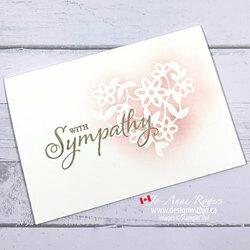 Simple handmade sympathy card3