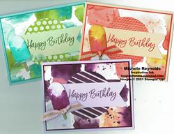 Sweet ice cream popsicle color block watermark