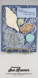 Stampin up friends are like seashells misty moonlight north star stamper