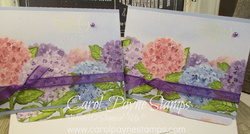 Stampin up hydrangea hill border carolpaynestamps1