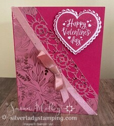 Heartfelt valentine s card with love you always dsp and blushing bride metallic ribbon