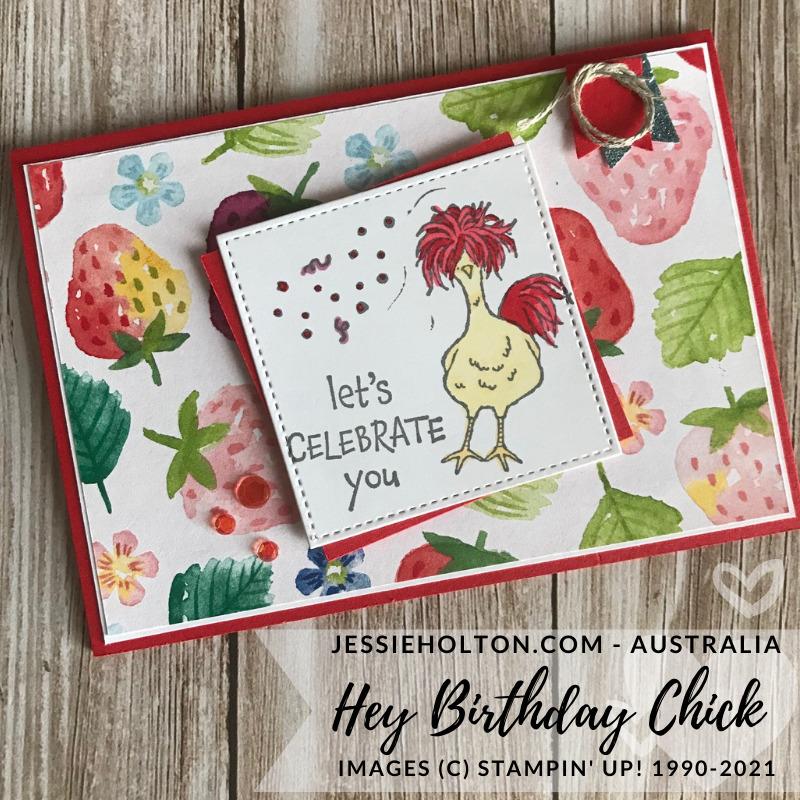 Jessie holton stampin up hey chick hey birthday chick berry delightful 1