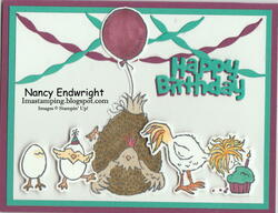 Hey chick and happy birthday chick card