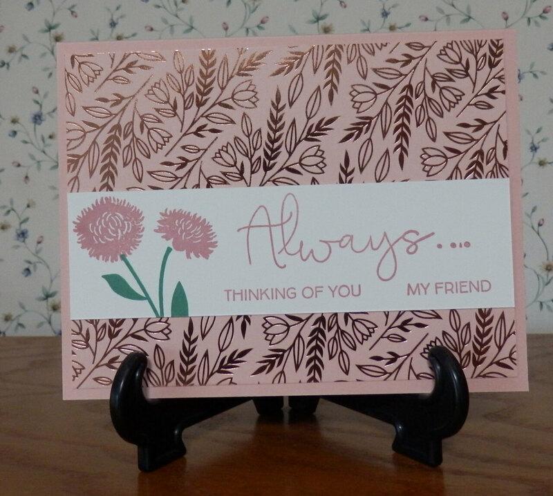 Love you always field of flowers  simplestamping