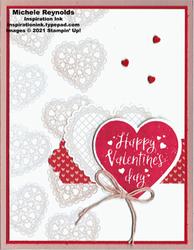 Heartfelt lacy hearts watermark