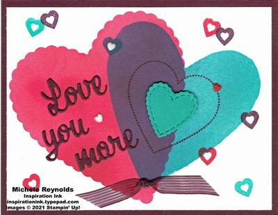 Heartfelt blended hearts watermark