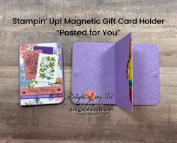 Magnetic gift card holder