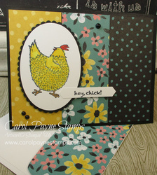 Stampin up hey chick pop up carolpaynestamps1