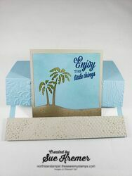 Stampin up friend like you die cut embossed north star stamper