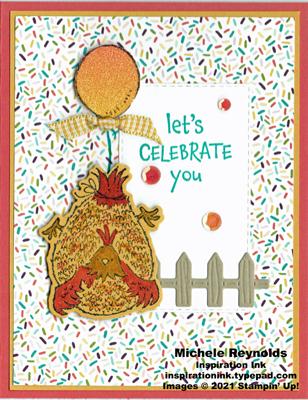 Hey birthday chick floating balloon hen watermark