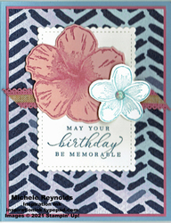 Timeless tropical flowers birthday watermark