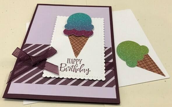 Glimmer ice cream cone