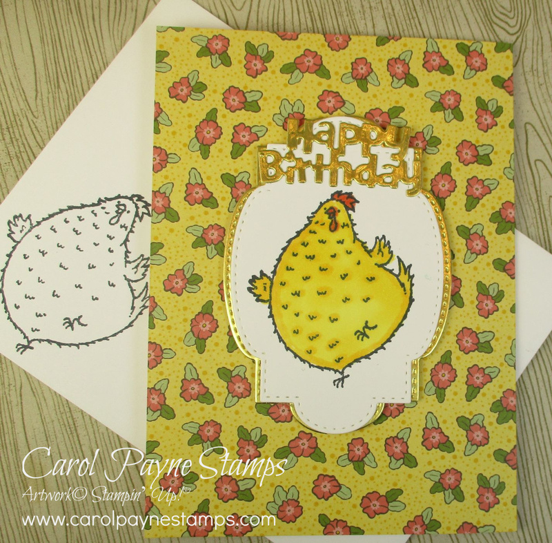 Stampin up hey birthday chick carolpaynestamps2