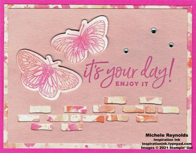 Butterfly brilliance brick wall butterflies watermark