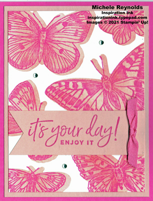 Butterfly brilliance stenciled butterflies watermark