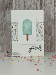 Stampin up sweet ice cream straight wm