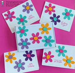 Pierced blooms notecards