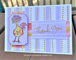 Chicken thank you card  2