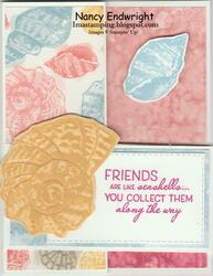Friends are like seashells   double z fold