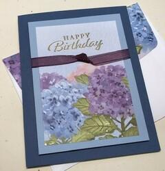 Hydrangea hill dsp birthday card
