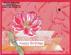 Art gallery stucco flower birthday watermark