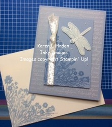 Dragonfly corner card