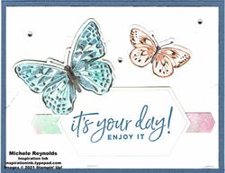 Happiest of birthdays your day butterflies blue version watermark