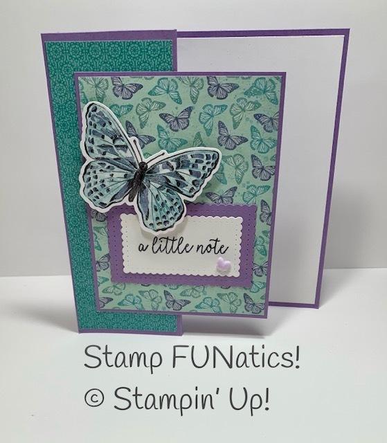 Butterfly bouquet fun fold card