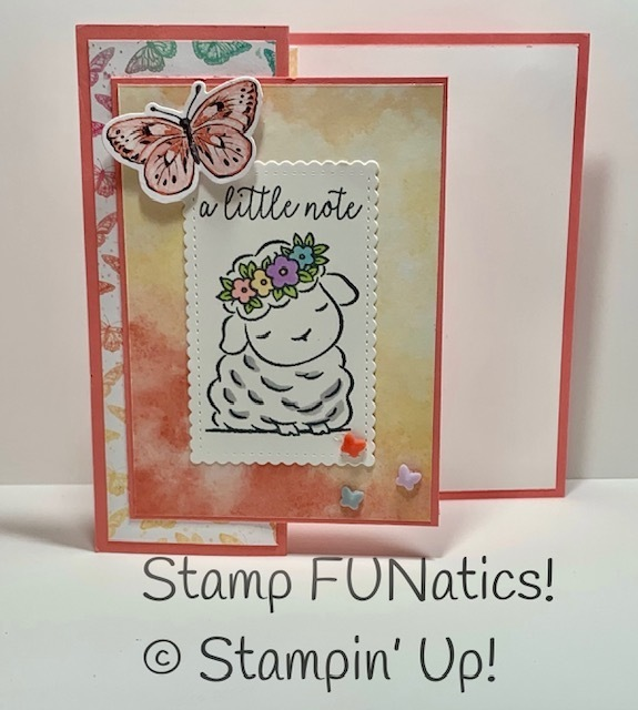 Butterfly bijou fun fold card with springtime joy