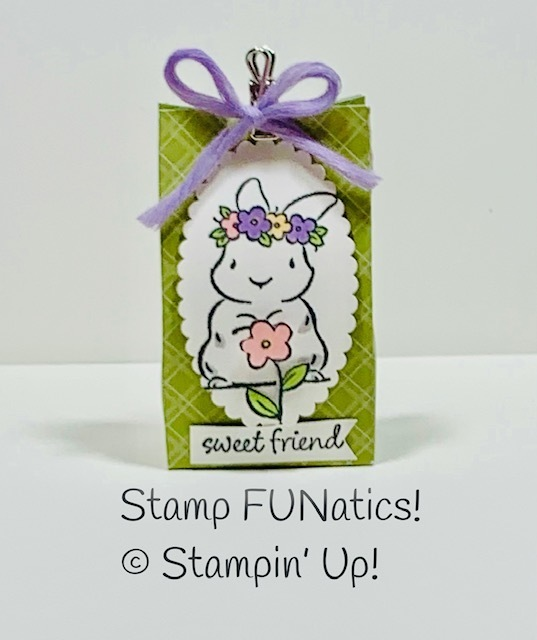Bunny treat box with springtime joy
