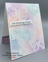 Butterfly brilliance embossed