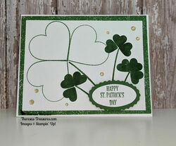 Stampin up st. patrick heartfelt bling straight wm