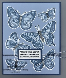 Butterfly brilliance over sized card