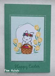 Bunny basket tulips