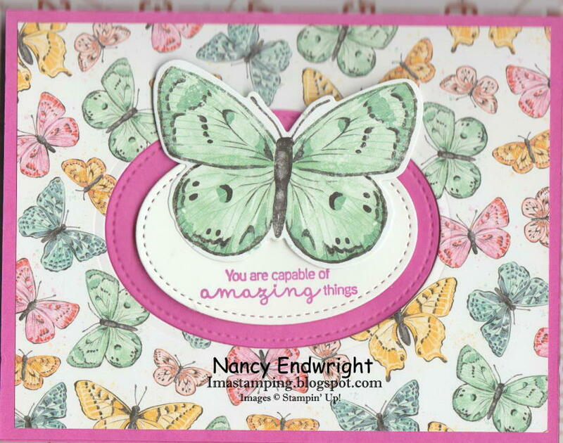 Butterfly pop up and flip card