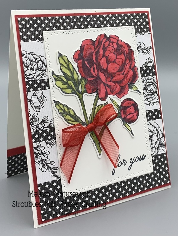 Prized peony with true love paper